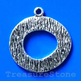 Pendant/charm, silver-finished, 30/14mm. Pkg of 2.