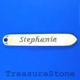 "Pendant/bookmark, silver-finished, 14x92mm ""Stephanie"". Each."