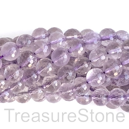 Bead, lilac amethyst, 10mm faceted round. 15 inch, 39pcs