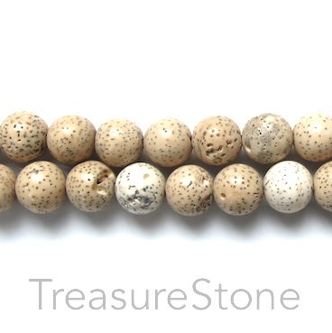 Bead, lotus seed, Grade B, 10mm round. Pkg of 108pcs.