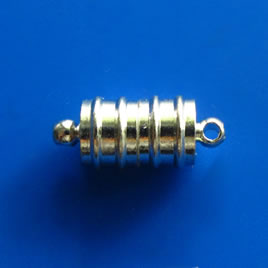 Clasp, magnetic, 8x12mm. Pkg of 3 pairs.