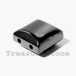 Spacer bead, magnetic, 10mm square. Pkg of 50.