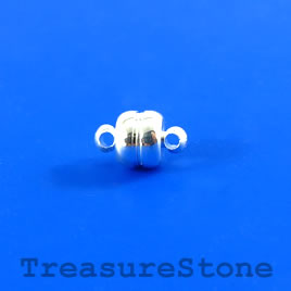 Clasp, magnetic, 6mm. Pkg of 3 pairs.