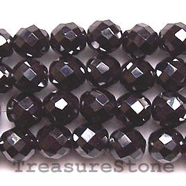 Bead, magnetic. 8mm faceted round. 16 inch strand.