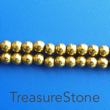 Bead, magnetic, 6mm round. 16 inch strand