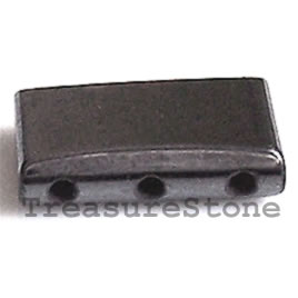 Spacer bead, magnetic, 3-hole. Pkg of 50.