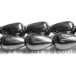 Bead, magnetic, 6x12mm teardrop - Super Power.16 inch strand
