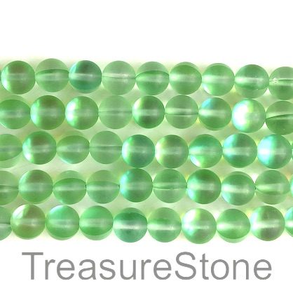Bead, manmade quartz, 8mm round, matt. 15-inch, 47pcs.