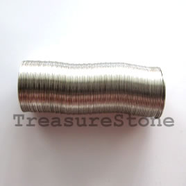 Memory wire, stainless steel 3/4 inch ring,0.5mm thick,80 loops