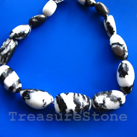 Bead, mexican zebra jasper, 20-35mm graduated nugget. 15-inch.