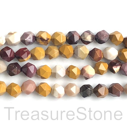 "Bead, mookaite, 8mm, faceted nugget, star cut, grade B. 15"", 47"