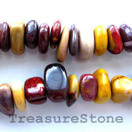 Bead, Mookaite Jasper, about 6x15mm nugget.16-inch strand.
