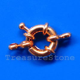 Clasp, springring, bright copper,15mm nautical.Sold individually