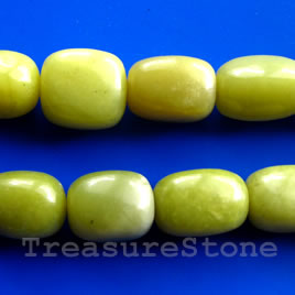 Bead, olive jade, 14x18mm nugget. 16-inch strand.