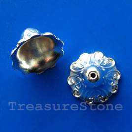 Cone, bright silver-finished, 16mm. Pkg of 8.