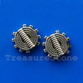 Bead, gunmetal-finished, 8x10mm. Pkg of 20.