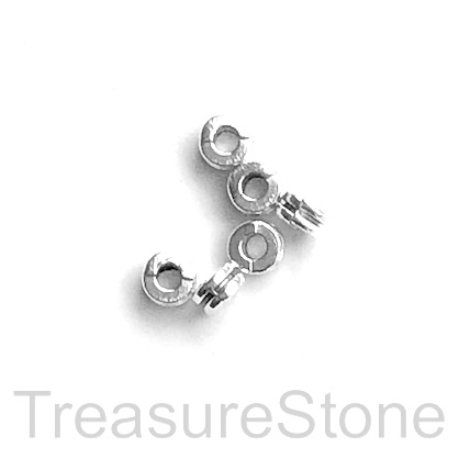 Bead, antiqued silver finished, 2x5mm double disc. Pkg of 20.