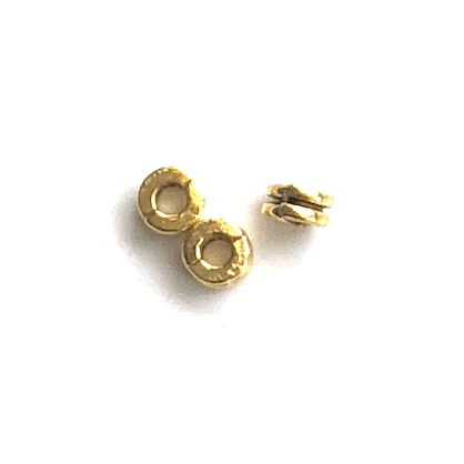 Bead, antiqued gold finished, 2x5mm double disc. Pkg of 20.