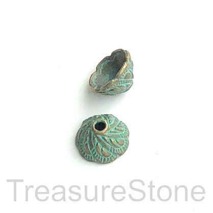 Bead cap, patina finished, 6x10mm. 20pcs
