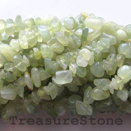 Bead, new jade, 7mm chip. 35-inch strand.