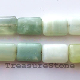 Bead, new jade, 10x14mm flat rectangle. 16-inch strand.