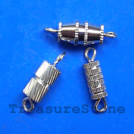Clasp, barrel, mixed , 12x5mm. Pkg of 15.