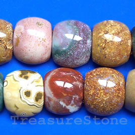 Bead, ocean jasper, 15x18x7mm double-drilled. Sold per pkg of 27