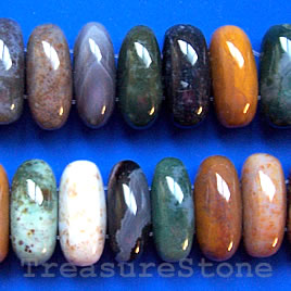 Bead, ocean jasper, 18x12x20mm double-drilled.Sold per pkg of 43