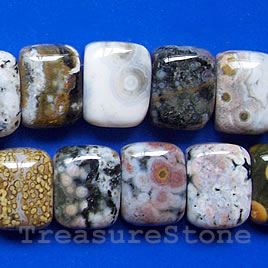 Bead, ocean jasper, 12x16x7mm double-drilled. Sold per pkg of 33