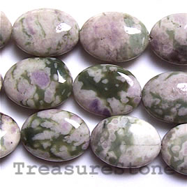 Bead, peace jade, 18x24mm puffed oval. 16-inch strand.