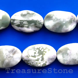 Bead, peace jade, 20x30mm wavy flat oval. 16-inch.