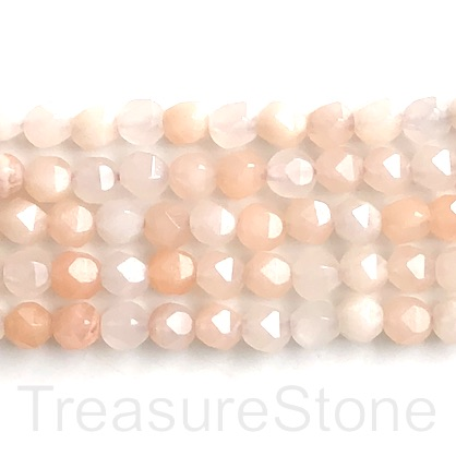 "Bead, peach aventurine, 7x8mm, faceted nugget, star cut. 15"", 48"