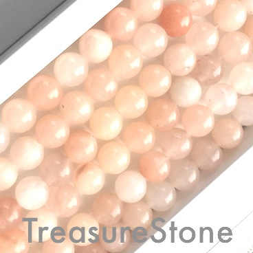 Bead, peach aventurine, 8mm round. 15.5-inch, 48pcs.