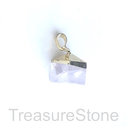 Pendant, crystal quartz, 12x15mm. Sold individually.