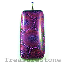 Pendant, dichroic glass, 21x45mm rectangle. Sold individually.
