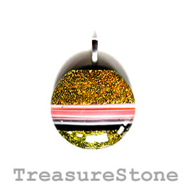 Pendant, dichroic glass, 30mm. Sold individually.