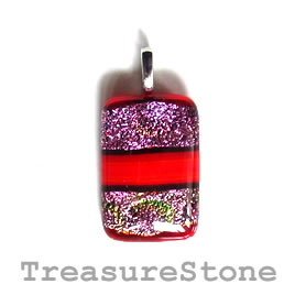 Pendant, dichroic glass, 20x29mm. Sold individually.