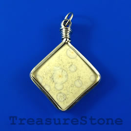 Pendant, Porcelain, 37mm diamond. Sold individually.