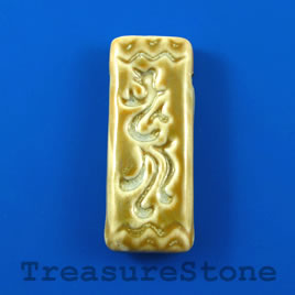 Pendant, Porcelain, 20x53mm rectangle. Sold individually.