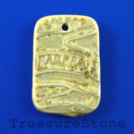 Pendant, Porcelain, 32x48mm rectangle. Sold individually.