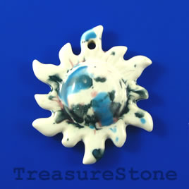Pendant, Porcelain, 48mm sun. Sold individually.