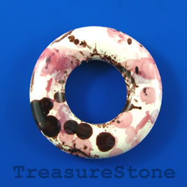 Pendant, Porcelain, 54mm round donut. Sold individually.