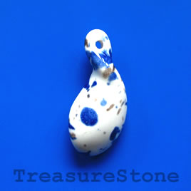 Pendant, Porcelain, 20x45mm. Sold individually.