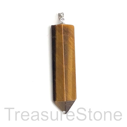 Pendant, tigers eye, 13x50mm arrow head. Sold individually.