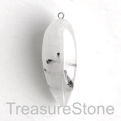 Pendant, tourmalined quartz, 19x49mm. Sold individually.