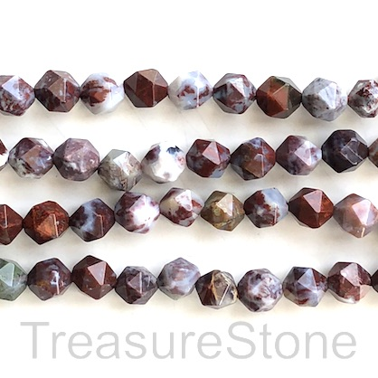 Bead, pietersite, 7x8mm faceted, star cut. 15-inch, 47pcs