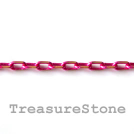 Chain,brass, pink-gold finished, 2x4mm rectangle. Pkg of 1 meter