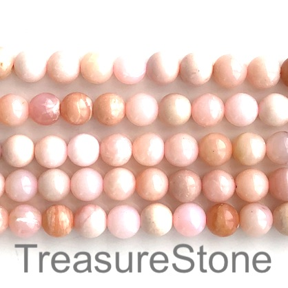 Bead, Pink Opal, 8mm round. 16 inch, 49pcs