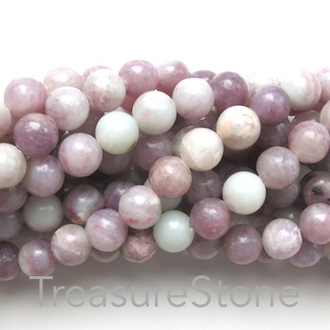 Bead, purple jasper, 8mm round. 15-inch strand, 45pcs