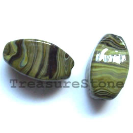 Bead, lampworked glass, 12x22mm. Pkg of 5.